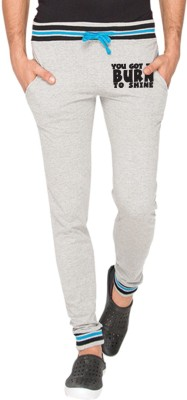 Campus Sutra Printed Men Grey Track Pants at flipkart