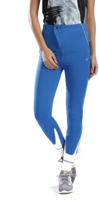 HRX by Hrithik Roshan Solid Women Blue Track Pants at flipkart