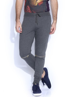 Kook N Keech Solid Men Grey Track Pants at flipkart