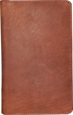 Kan Brown Premium Quality Leather Travel Passport Organizer For Men and Women Brown Kan Wallets