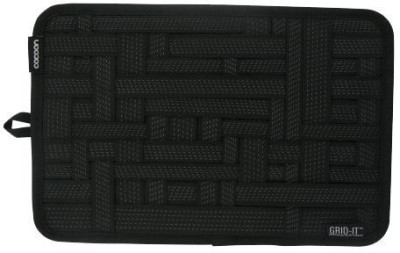 Everyday Desire Grid Pad with Non Slip Elastic Straps with Travel Pouch Bag for electronic accessories Black Everyday Desire Travel Organizers