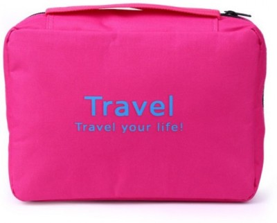 Everyday Desire Travel Cosmetic Makeup Toiletry Case Hanging Bag   Pink Pink