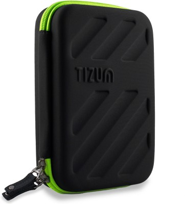 TIZUM Portable Universal Electronics Travel Organizer / Gadget Organizer Accessories Carry Bag   Rugged, Shock Proof   Water Resistant