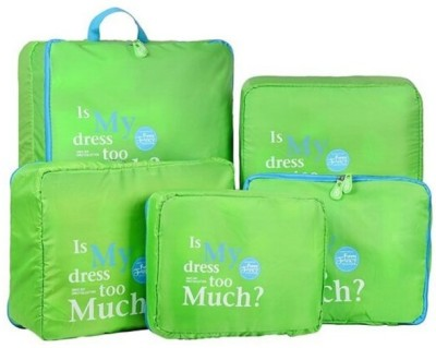 Magnusdeal Sets Travel in Organizer Set of 5 Bags Green Magnusdeal Travel Organizers