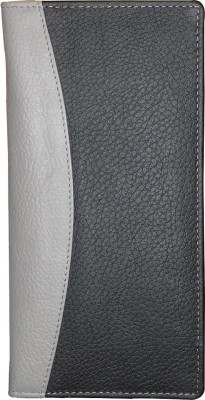 Kan Black And Grey Designer Genuine Leather Travel Document Holder/Organizer With 16 Card Slots For Men and Women(Multicolor)