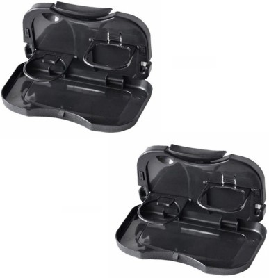 Speed Foldable Car Dining Meal Drink Tray SET OF 2-Chevrolet Cruze(Black)