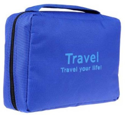 Everyday Desire Travel Cosmetic Makeup Toiletry Case Hanging Bag   Blue Blue
