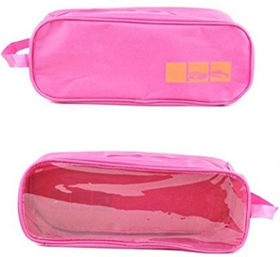 Italish Waterproof Travel Sports Shoes Carry Storage Bag(Pink)  available at flipkart for Rs.299