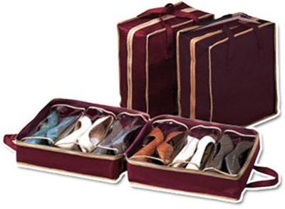 Divinext Shoe Tote The Perfect Shoe Rack Organizer Brown