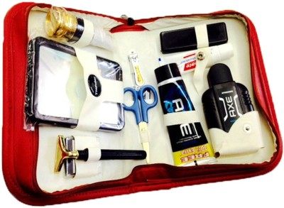 Toprun Thunder Denim Pride Travel Shaving Kit Red