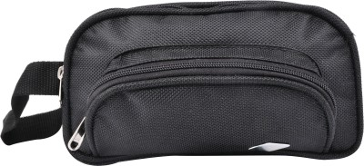 PSH three fold with d pocket Travel Shaving Bag Black
