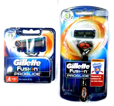 Gillette fusion proglide Travel Shaving Kit(Orange)