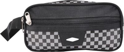 PSH three fold cheak Travel Shaving Bag Black