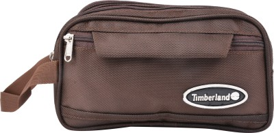 PSH two fold with pocket Travel Shaving Bag Brown