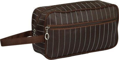 PackNBuy Toiletry Bag for shaving kit Shampoo Toothpaste Make up Cosmetic Travel Toiletry Kit Brown