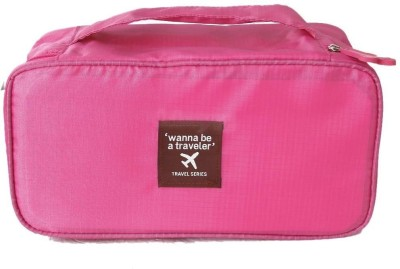 Ruby Travel Underwear Lingerie Organizer  Pink Travel Toiletry Kit Pink