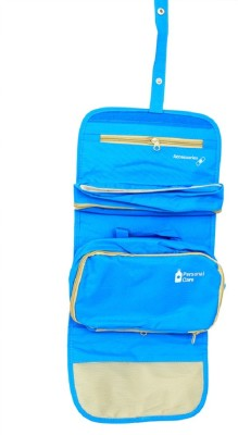 c0861d4260b1 Kuber Industries Blue Long Folding Hanging Cosmetic Makeup Travel Organizer  kit with detachable pockets (KI3299