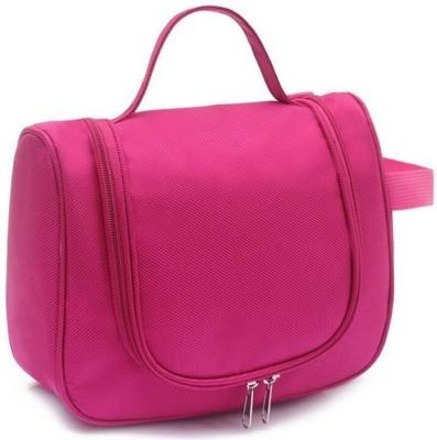 Swadec Cosmetic Make Up Toiletries Tel Hanging Bag   DARK PINK Travel Toiletry Kit Pink