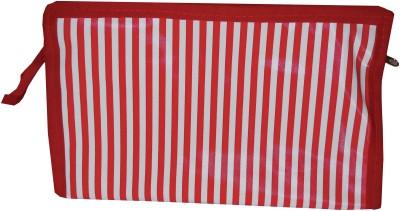 K P Zebra Stripe Regular Travel Toiletry Kit Red