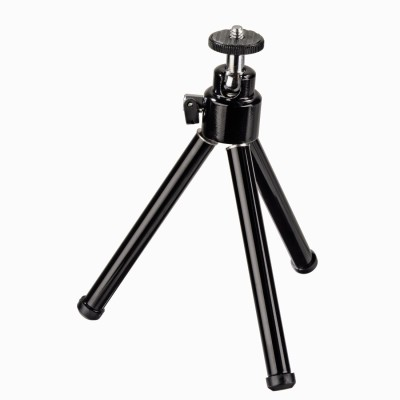 Power Smart Mini Stand Small Portable Metal Tripod For Camera Mobile Tripod Kit Black, Supports Up to 200 g Power Smart Tripods