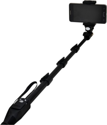 Watermelon Selfie Monopod With Inbuilt Bluetooth Remote Shutter And Usb Data Cable Charger-Black(Black, Supports Up to 2500 g) at flipkart
