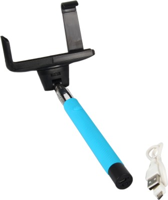 Spectra Z07 5 Selfie Stick(Blue, Supports Up to 500 g)