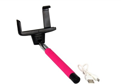Spectra Z07 -5 Selfie Stick(Pink, Supports Up to 500 g)