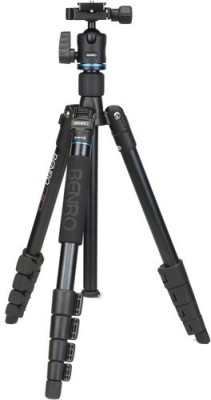 Benro IT15 Aluminum Travel Angel Tripod Kit Black, Supports Up to 4000 g