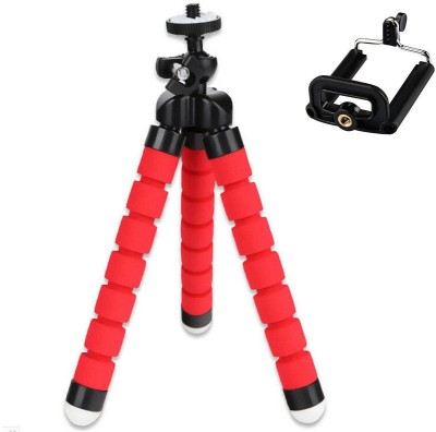 Shrih Selfie Flexi Tripod Stand Mount With Holder Pod Tripod Kit(Red, Black, Supports Up to 400 g) at flipkart