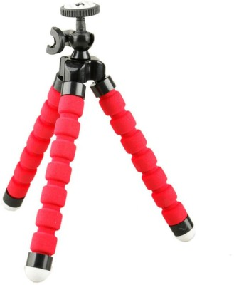 Axcess Mini Flexible Camera Octopus Bubble Stand with Mount Adapter And Clamp Tripod Red, Supports Up to 275 g Axcess Tripods