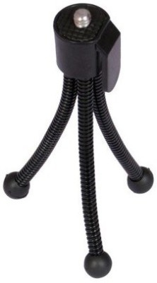De-TechInn Universal Flexible Mini Pocket Metal Tripod Stand for Digital Camera Webcam mobile phones(Black, Supports Up to 400 g)  available at flipkart for Rs.185