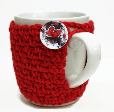 saaheli Coffee Cozy Hearts and Flowers Cup wool Trivet(Pack of 1) at flipkart