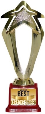 Box 18 WORLDS BEST KARAOKE SINGER Trophy(M)  available at flipkart for Rs.499