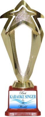Box 18 BEST KARAOKE SINGER IN THE WORLD Trophy(M)  available at flipkart for Rs.499