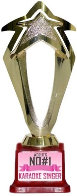 Box 18 WORLDS NO#1 KARAOKE SINGER 1307 Trophy(M)  available at flipkart for Rs.499