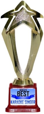 Box 18 WORLDS BEST KARAOKE SINGER 567 Trophy(M)  available at flipkart for Rs.499
