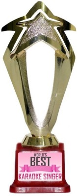 Box 18 WORLDS BEST KARAOKE SINGER 1025 Trophy(M)  available at flipkart for Rs.499