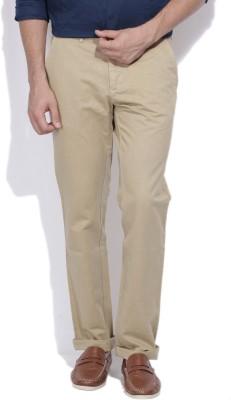 Arrow Sport Slim Fit Men Brown Trousers at flipkart