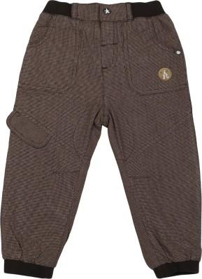 Addyvero Slim Fit Girls Brown Trousers