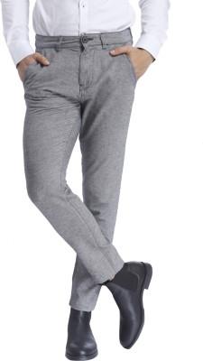 Selected Regular Fit Men Grey Trousers at flipkart