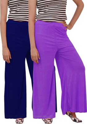Marami Regular Fit Women Purple, Blue Trousers