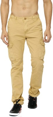 Roadster Slim Fit Men's Brown Trousers at flipkart