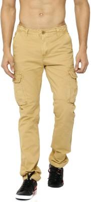 Roadster Slim Fit Men's Brown Trousers at flipkart