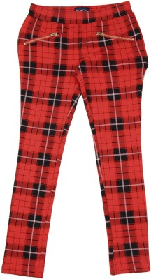The Children's Place Regular Fit Girls Red Trousers at flipkart
