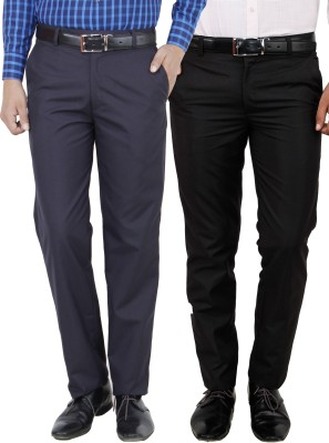 Frankline Slim Fit Men's Multicolor Trousers