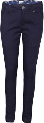 Gini & Jony Regular Fit Girls Blue Trousers at flipkart