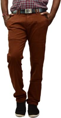 British Terminal Slim Fit Mens Maroon Trousers