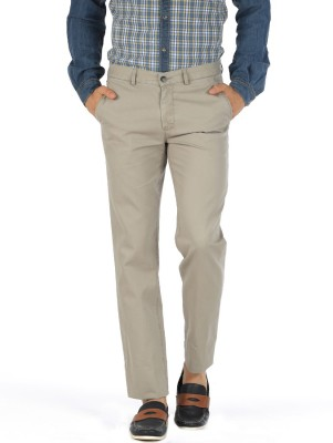 Basics Slim Fit Men Grey Trousers at flipkart