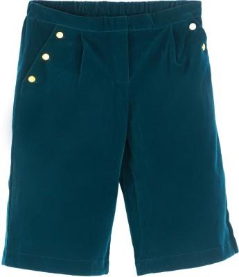 United Colors of Benetton. Regular Fit Girls Dark Green Trousers at flipkart