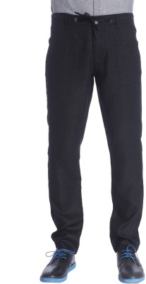 Jack & Jones Slim Fit Men Black Trousers at flipkart